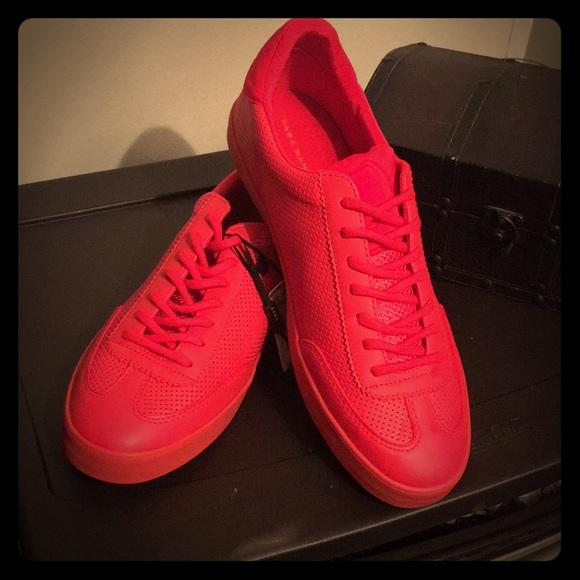 Zara Shoes | Zara Man Red Trainers